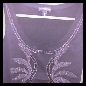 Black Express tank with silver details